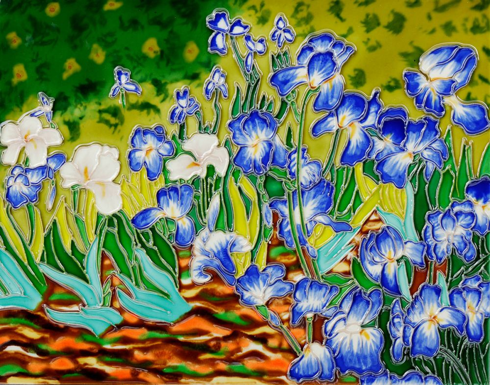 Irises Wall Tile