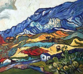 Les Alpilles, Mountain Landscape near South-Reme, 1889 - 24