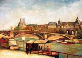 The Pont du Carrousel and the Louvre, 1886 - 36