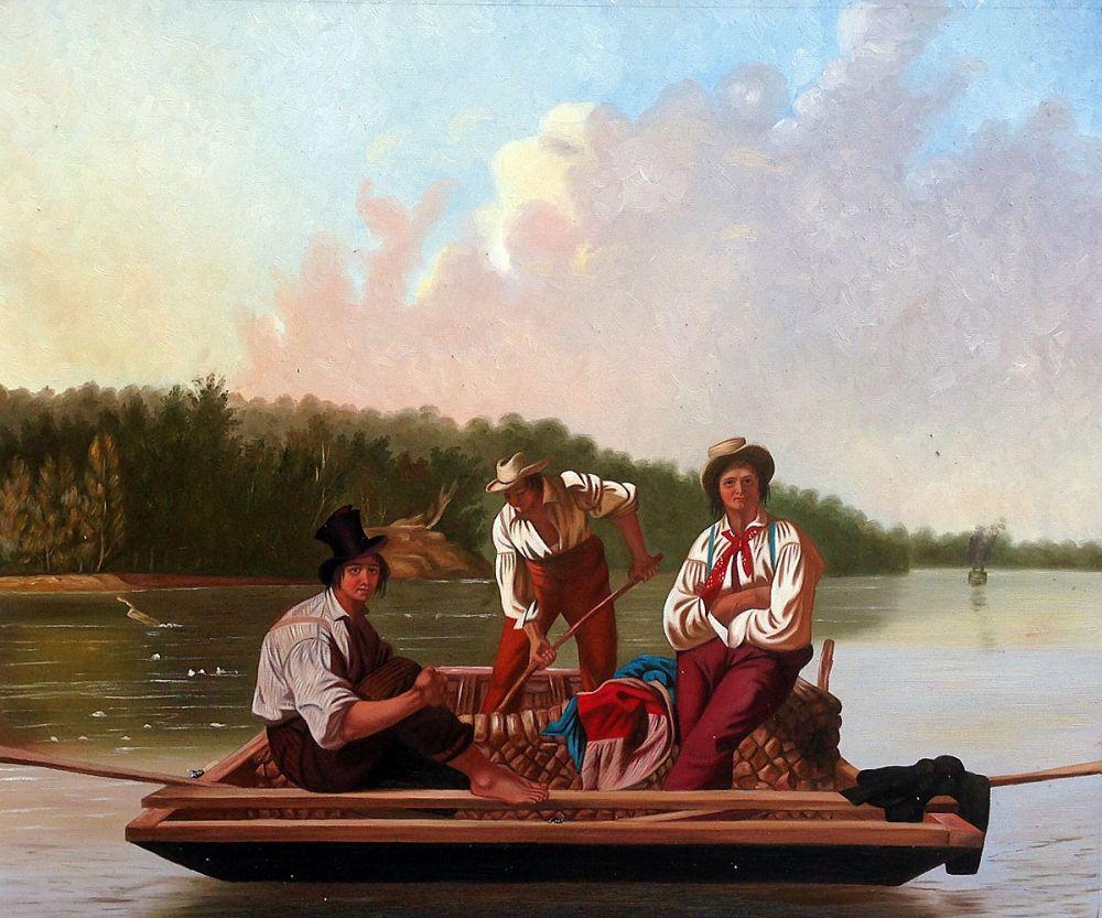 Boatmen on the Missouri, 1846