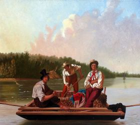 Boatmen on the Missouri, 1846