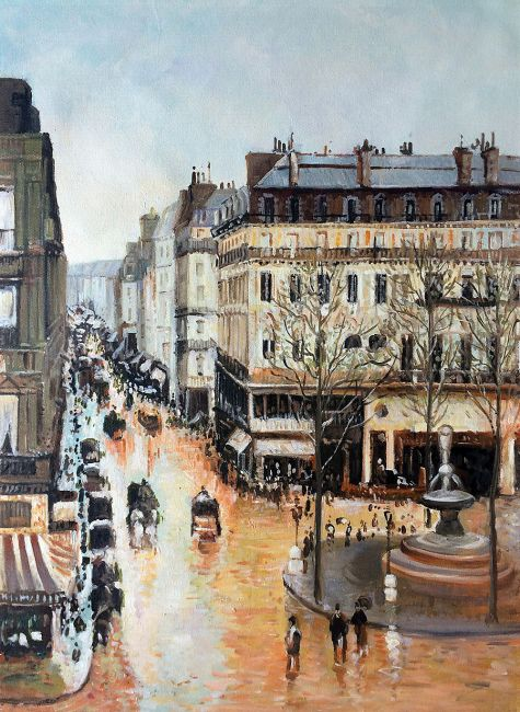 camille pissarro rue saint honore afternoon hand. Black Bedroom Furniture Sets. Home Design Ideas