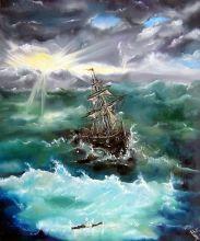 Boat in Storm