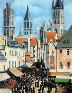 The Old Market at Rouen and the Rue de l'Epicerie - 20