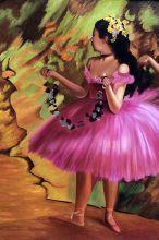Dancer in Pink Dress (Luxury Line)