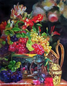Still Life with Grapes Reproduction