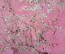Branches of and Almond Tree in Blossom, Pearl Pink (Luxury Line)