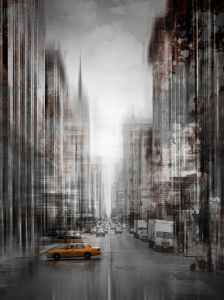 City Art, NYC 5th Avenue Yellow Cab