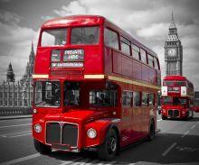 London, Red Buses on Westminster Bridge