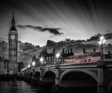 London, Westminster Bridge at Sunset