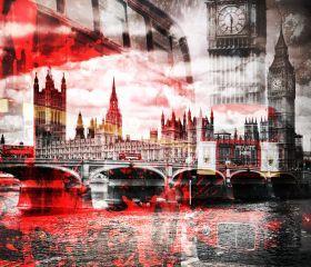 City Art, London Red Bus Composing