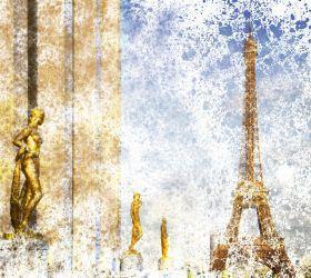City Art, Paris Eiffel Tower and Trocadero