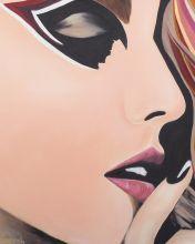 Beautiful Lady Painting Lips