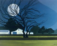 The Farm By Moonlight