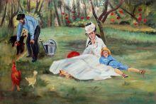 The Monet Family in the Garden - 36