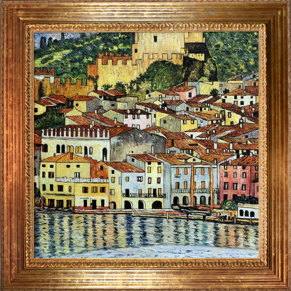 Malcesine on Lake Garda,1913 Pre-Framed