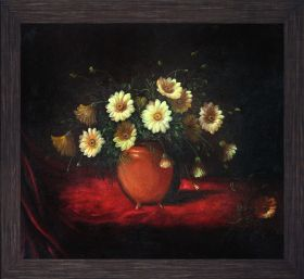 Yellow Daisies in a Bowl Pre-Framed - 24