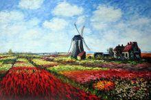 Tulip Field with the Rijnsburg Windmill - 36