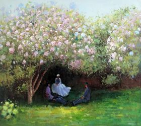 Resting Under the Lilacs