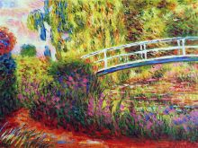 The Japanese Bridge, (The Water-Lily Pond, Water Irises) - 40