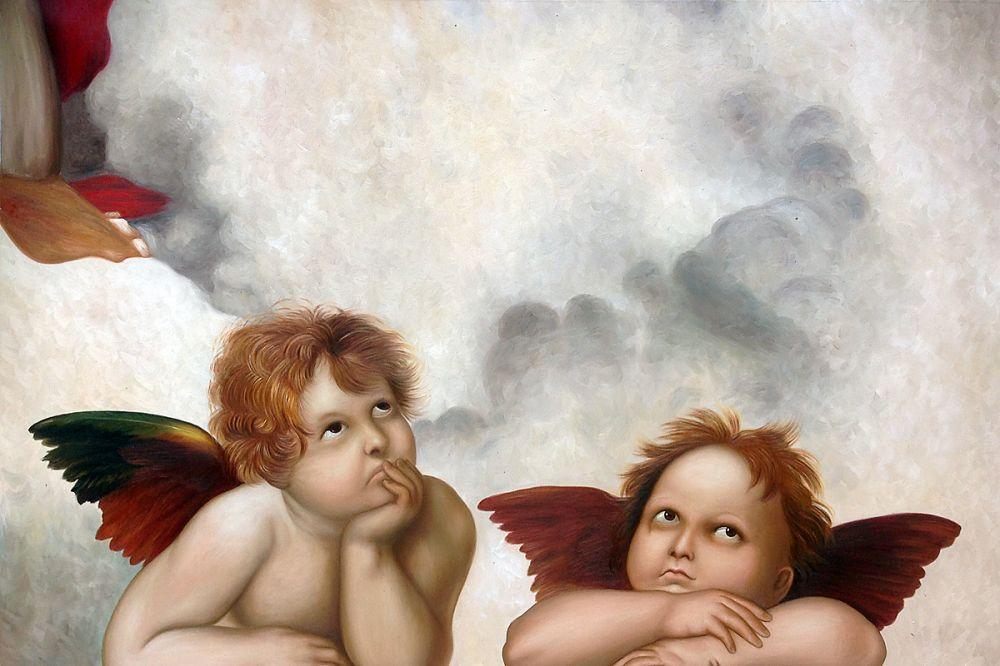 Madonna Sixtina (2 cherubs detail)
