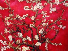 Branches of an Almond Tree in Blossom (Interpretation in Red) - 40