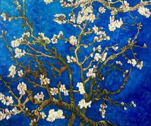 Branches of an Almond Tree in Blossom (Sapphire Blue) - 24
