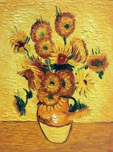 Vase with Fifteen Sunflowers - 8