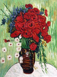 Vase with Daisies and Poppies - 16