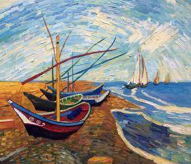 Fishing Boats on the Beach At Saintes-Maries