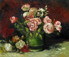 Bowl with Peonies and Roses - 24