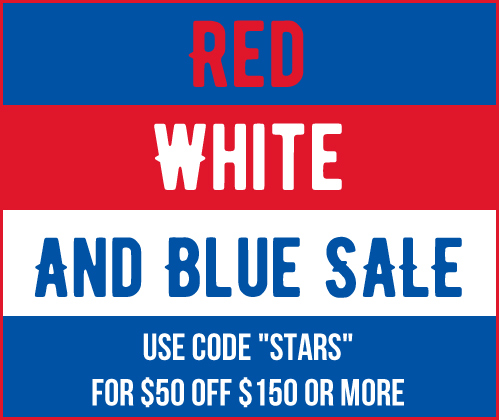Red White & Blue Sale - Take $50 Off $150 or More