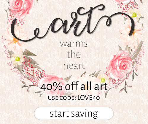 Art for the Heart: 40% Off the Art You Love