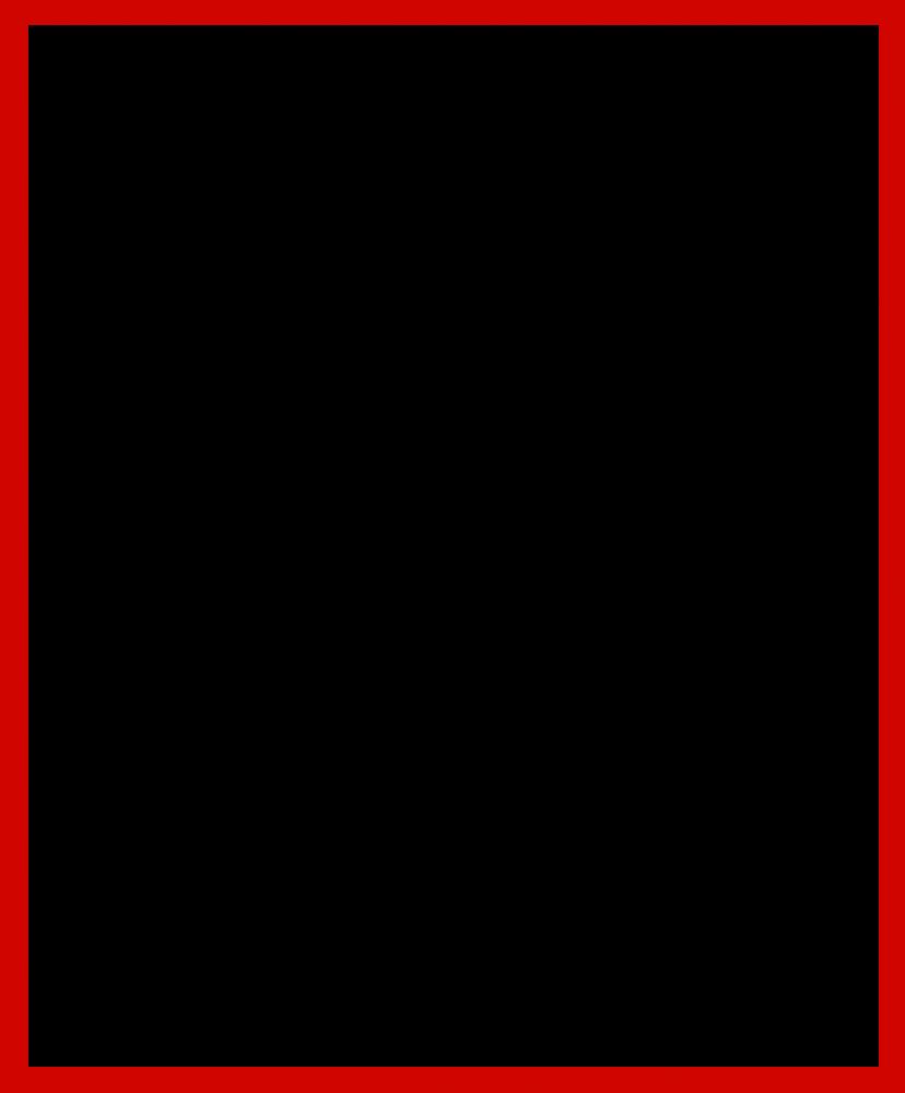 "Studio Red Metallic Frame 20""X24"""