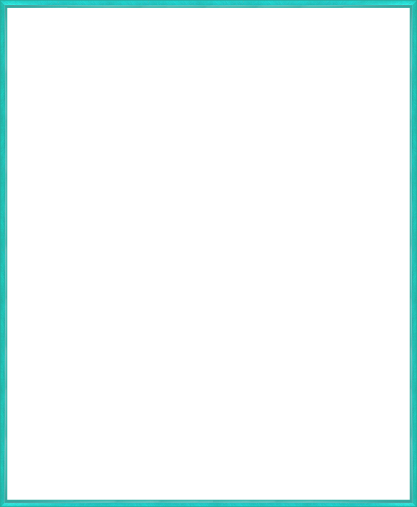 "Studio Turquoise Metal Frame 20""X24"""