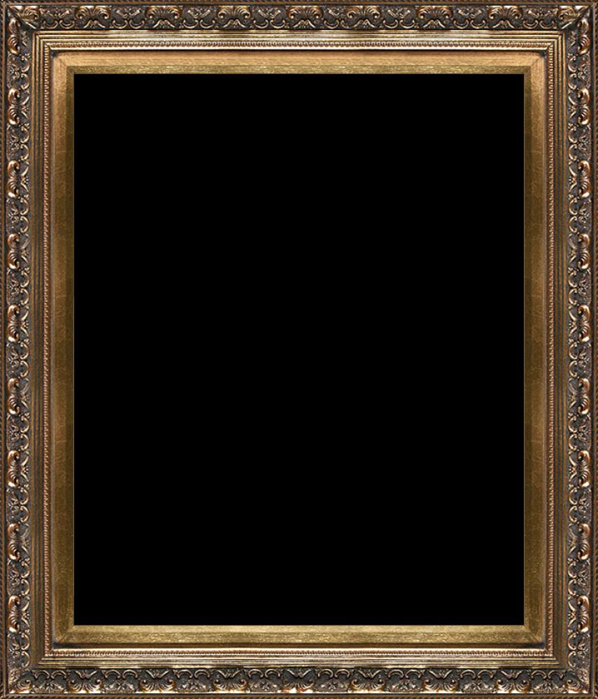baroque antique gold frame 20 x24   canvas art