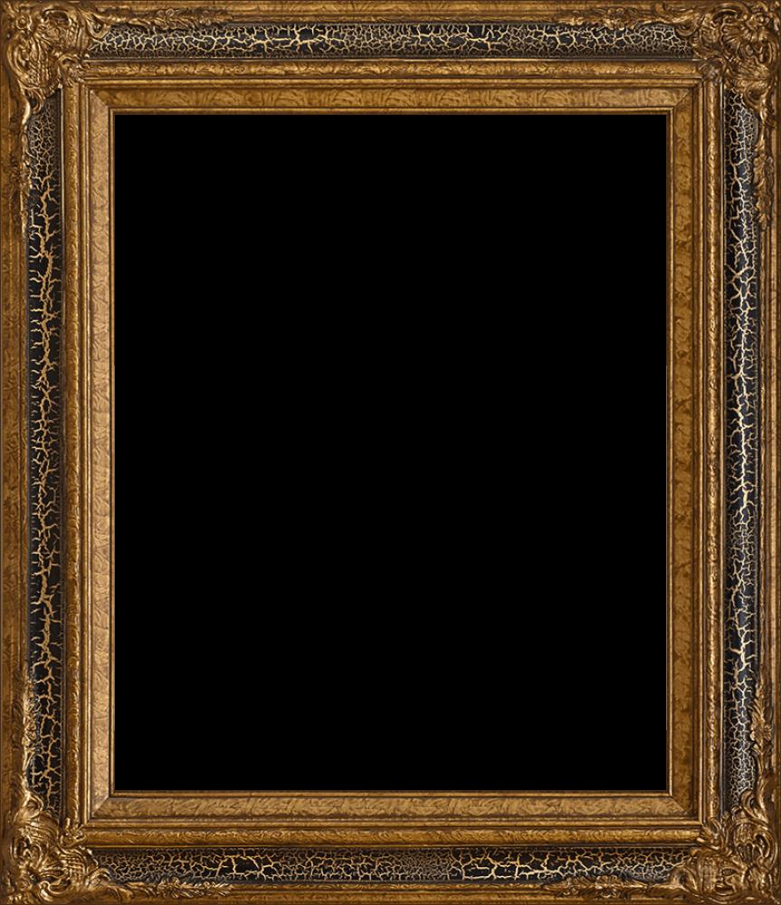 """Black Crackle King Frame 20""""X24"""""""