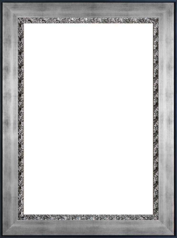 Ornate Silver King Custom Stacked Frame 24