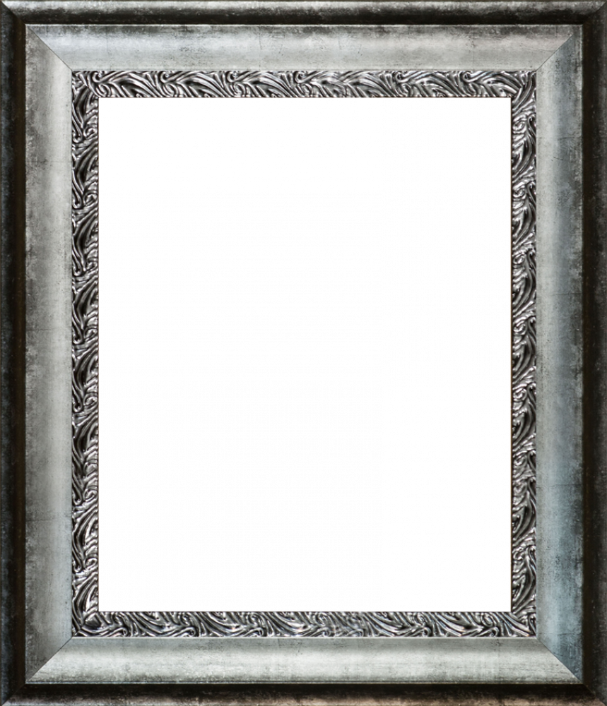 Distressed Ornate Silver Custom Stacked Frame 16