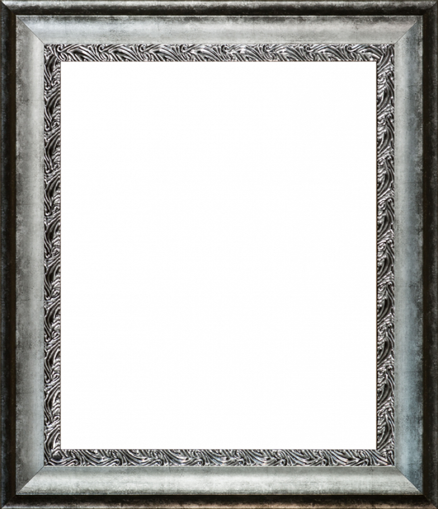 Distressed Ornate Silver Custom Stacked Frame 20