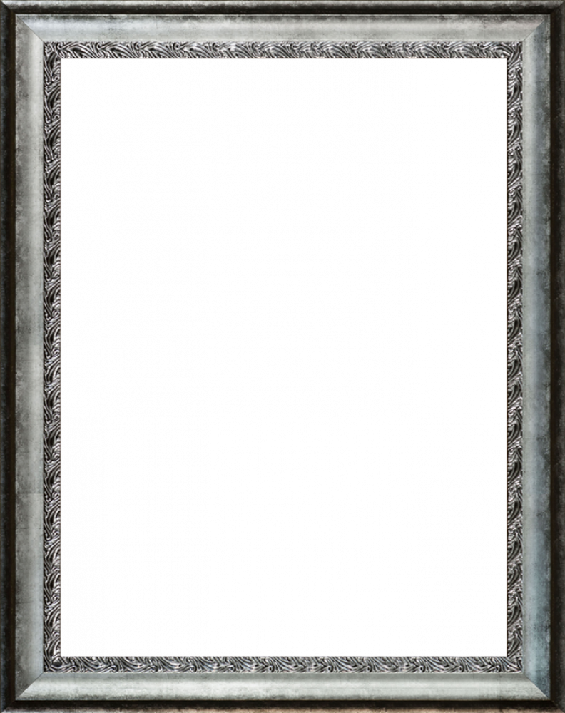 Distressed Ornate Silver Custom Stacked Frame 30