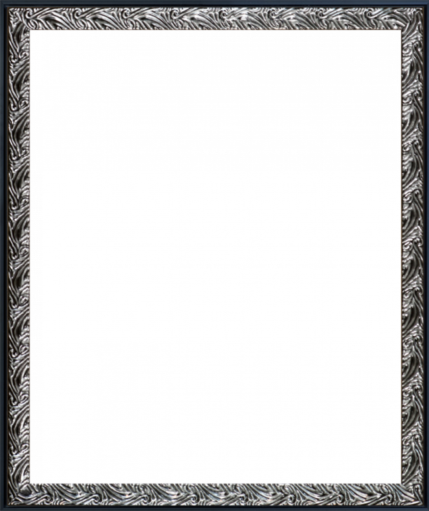 Ornate Silver and Black Custom Stacked Frame 20