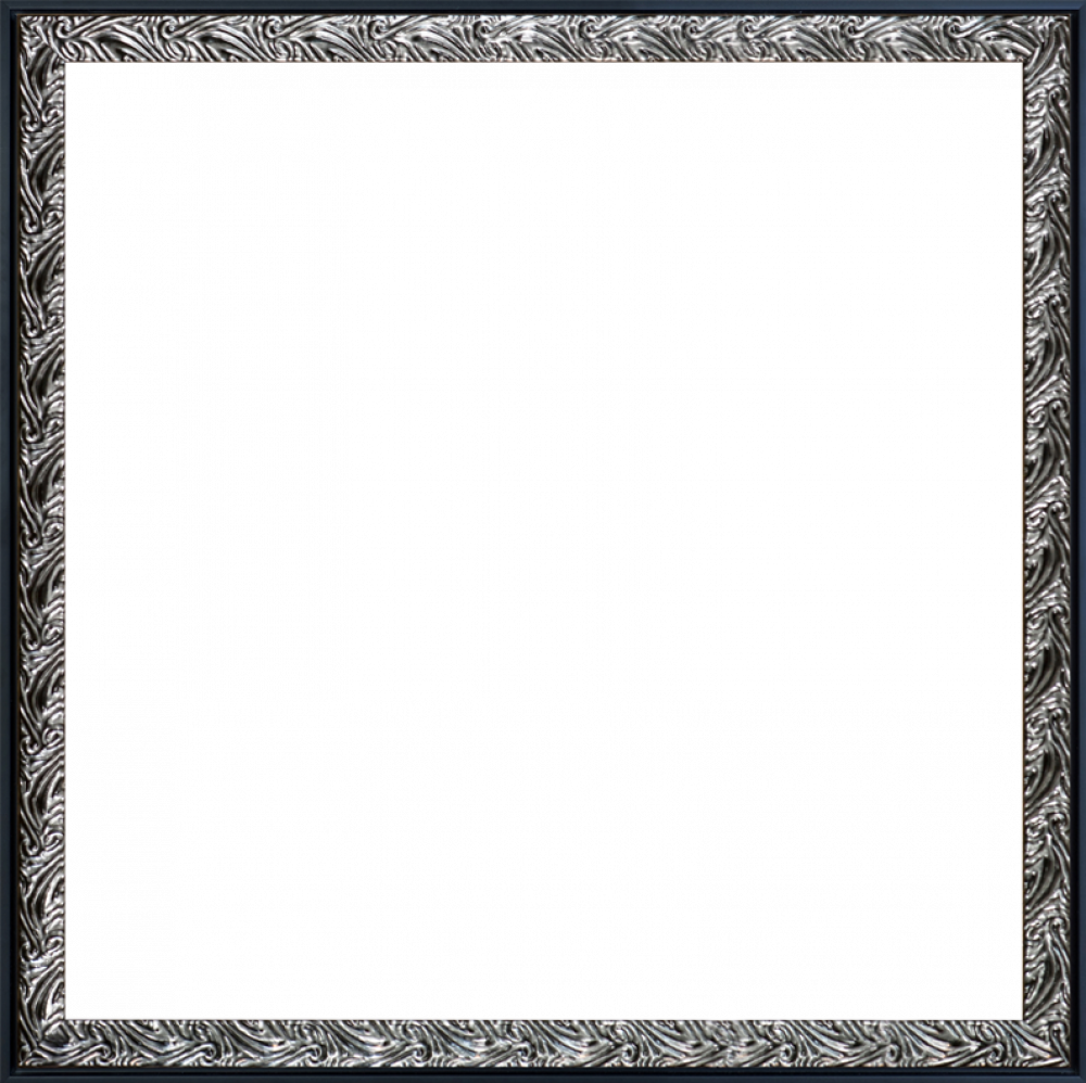 """Ornate Silver and Black Combo 24"""" x 24"""""""