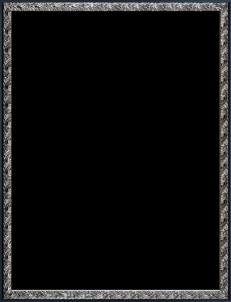 Ornate Silver and Black Custom Stacked Frame 30