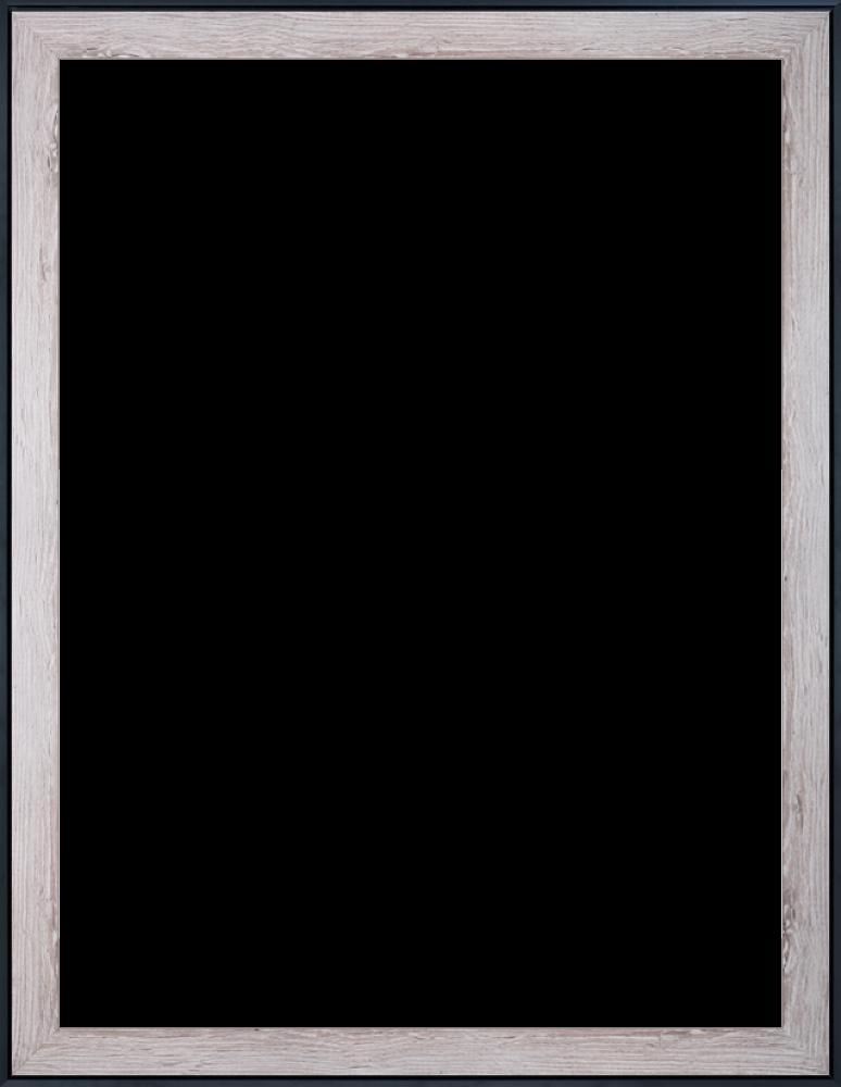 Nantucket Whitewash and Black Custom Stacked Frame 30