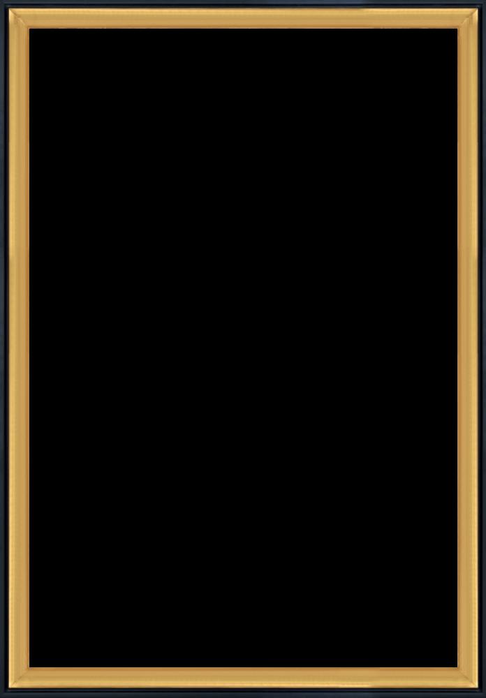 Burnished Gold and Black Wrap Custom Stacked Frame 24