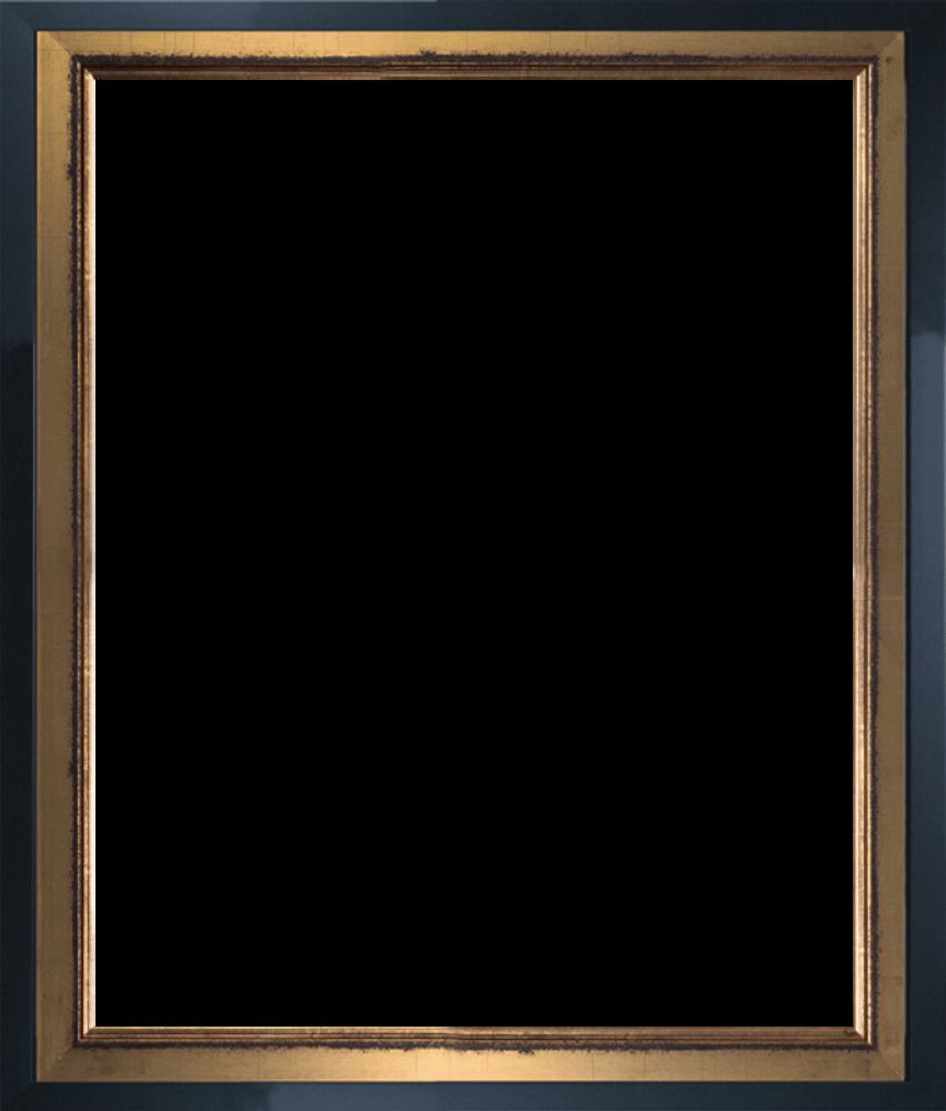 Burnished Gold and Studio Black Wood Custom Stacked Frame 16