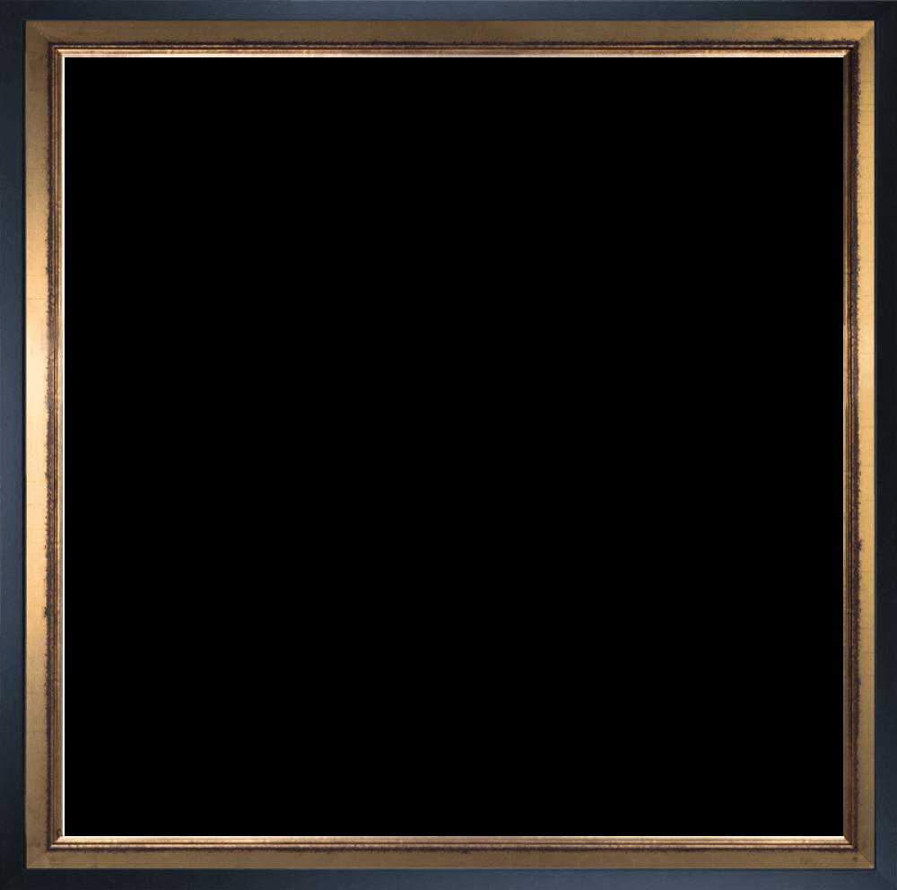 Burnished Gold and Studio Black Wood Custom Stacked Frame 24