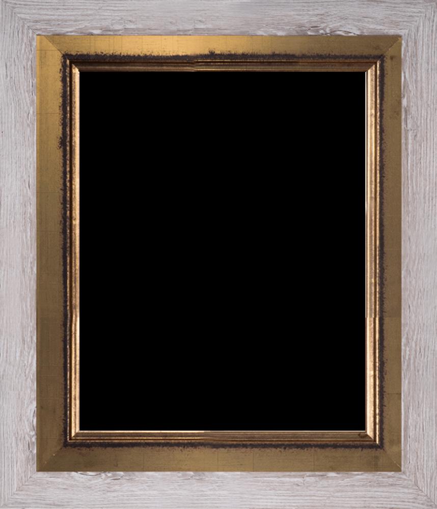 Nantucket Whitewash and Burnished Gold Custom Stacked Frame 16