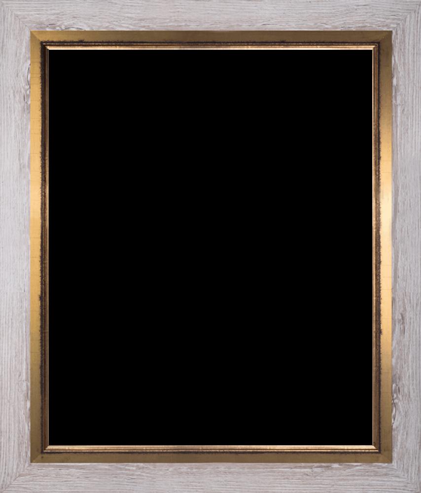 Nantucket Whitewash and Burnished Gold Custom Stacked Frame 20